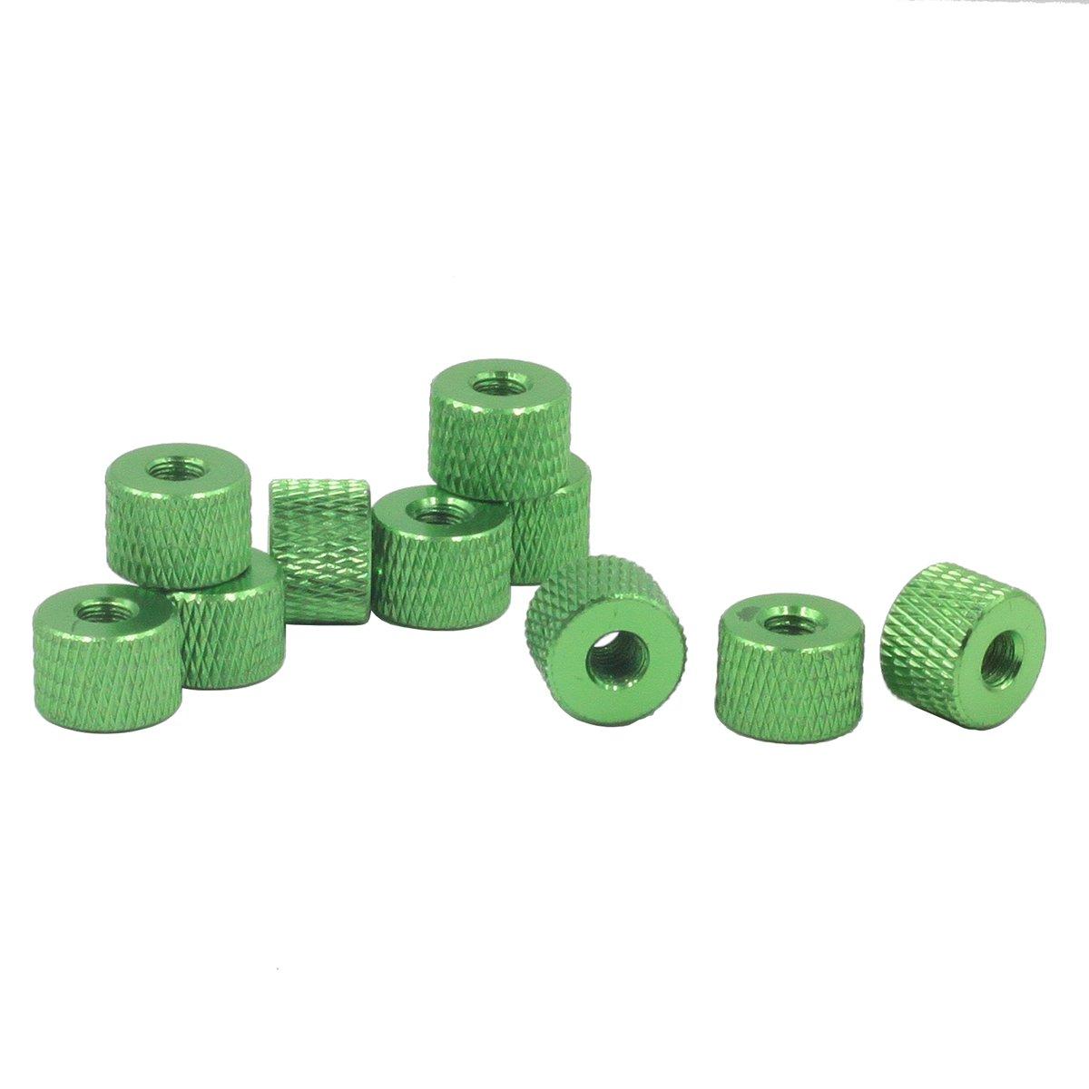 10 St/ück aus Aluminiumlegierung R/ändelmutter silber R/ändelmuttern