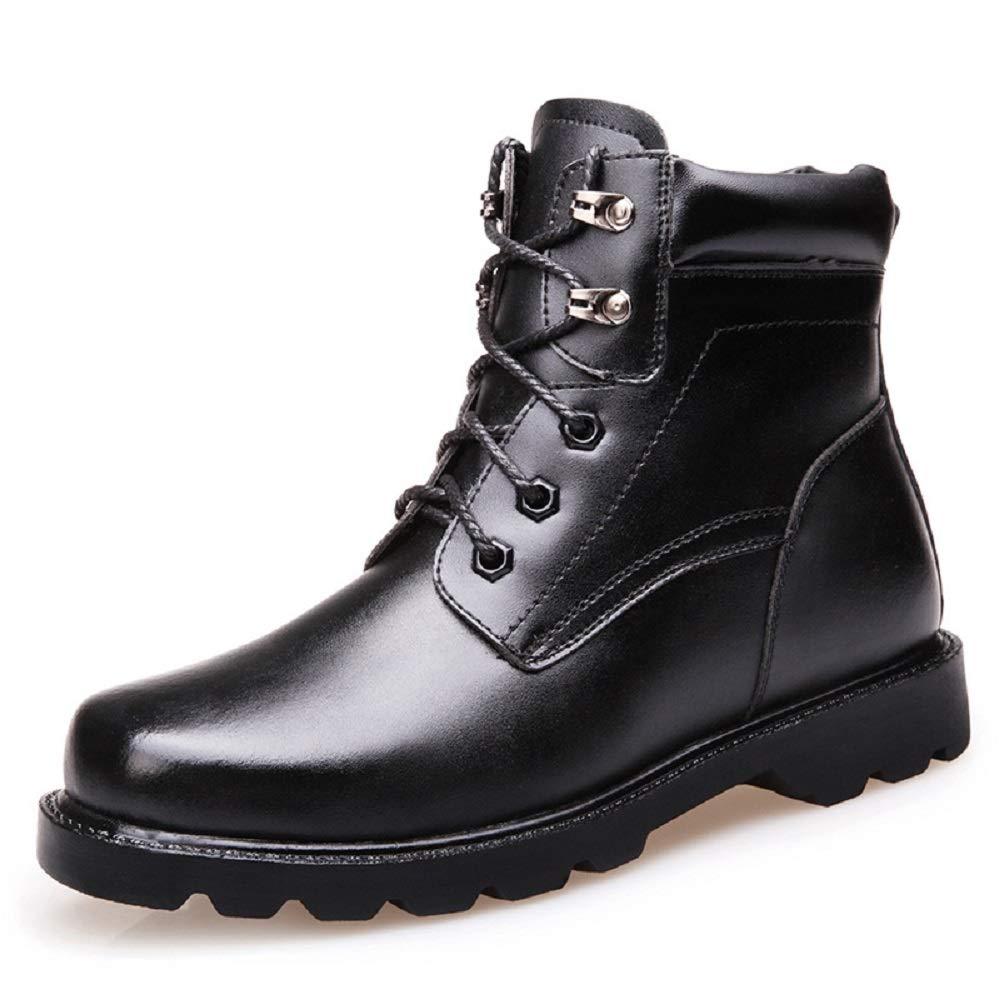 NBWE Herbst und Winter Martin Stiefel Herren Plus Samt Stiefel große Größe Militärstiefel hohe obere warme Baumwollschuhe