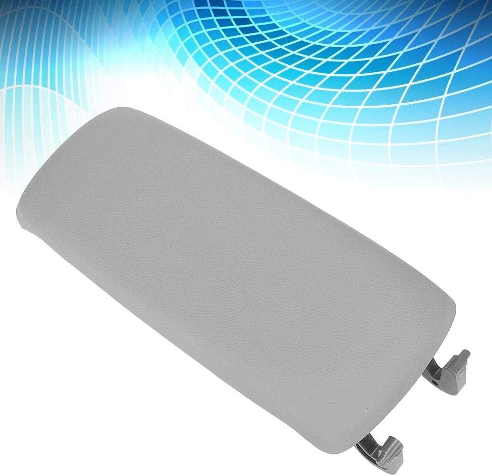 loquet en cuir Accoudoir de voiture Couverture de console centrale pour le bras central pour A6 C5 98-05 gris blanc Accoudoir de console