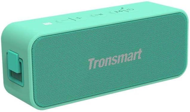 Tronsmart T2 Plus Altavoz Bluetooth 20W, Altavoz Portátil Exterior Impermeable IPX7, 24 Horas de Reproducción, Sonido Estéreo TWS, BT 5.0, Asistente de Voz y Manos Libres para Hogar, Aire Libre, Viaje