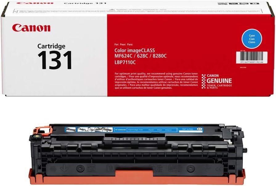 MF628Cw LBP7110Cw Laser Printers for Canon Color imageCLASS MF8280Cw MF624Cw 6272B001 Canon Genuine Toner 1 Pack Cartridge 131 Black