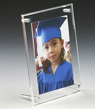 Amazoncom Clear Acrylic Double Sided Picture Frame 5 12 X 7 12