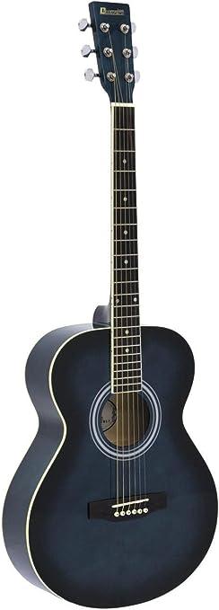 Guitarra Western LUKE con funda para guitarras, color blueburst ...