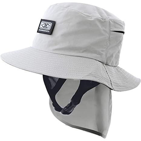 b08328adf05 Image Unavailable. Image not available for. Color  Ocean and Earth Mens  Indo Stiff Peak Grey Bucket Surf Hat ...