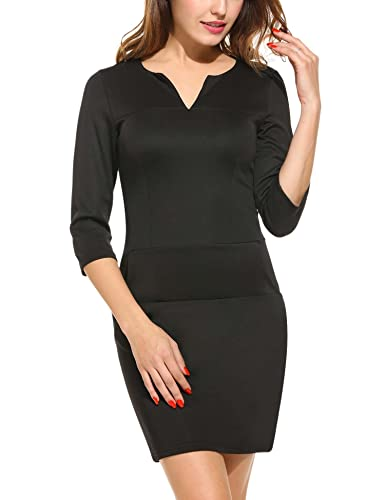 ANGVNS Women Retro 3/4 Sleeve ...