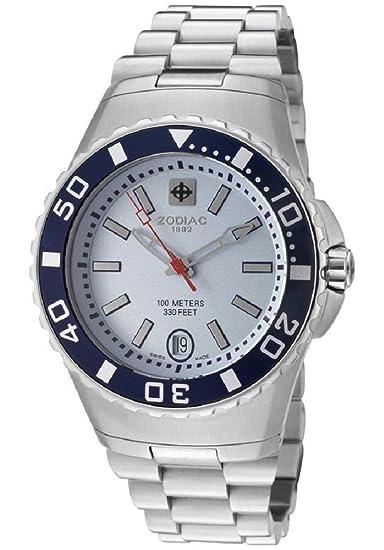 Zodiac correa de reloj ZO8532 Caucho / plástico Negro(Sólo reloj correa - RELOJ NO INCLUIDO!): Amazon.es: Relojes
