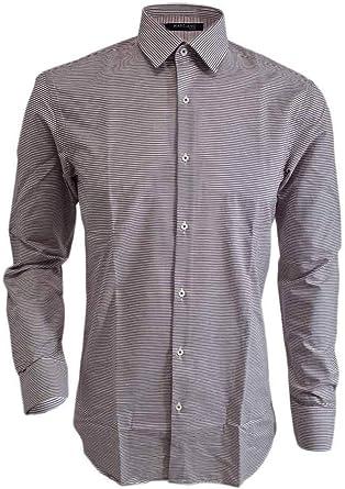 Marciano Guess - Camisa de Rayas Blancas y moradas, Talla 39 (M), 44 (XL) A3/92: Amazon.es: Ropa y accesorios