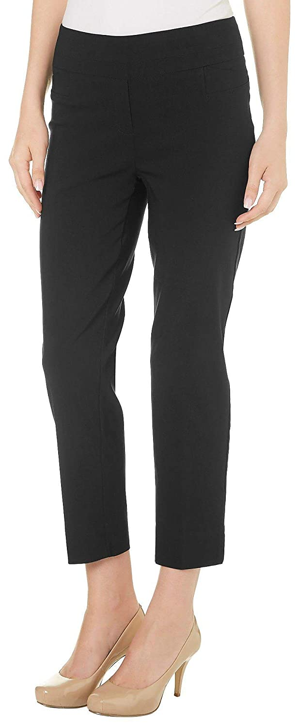 a932a297ffb950 Zac & Rachel Womens Solid Pull On Slim Fit Pants at Amazon Women's Clothing  store: