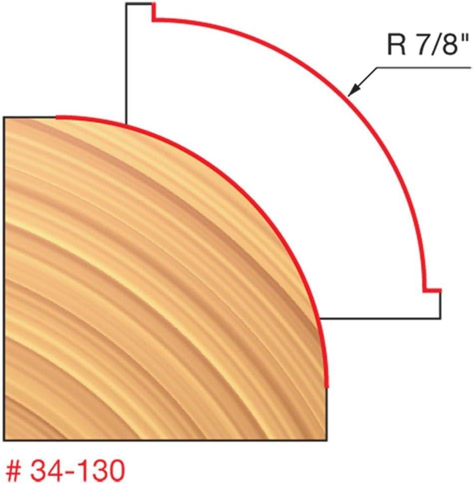 34-130 Quadra-Cut 1//2 Shank Freud  7//8 Radius Rounding Over Bit
