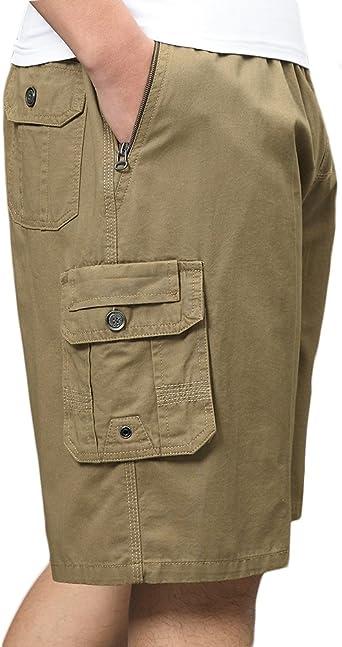 Sk Studio Hombre Algodon Bermuda Multibolsillos Tallas Grandes Shorts Cortos Pantalones Amazon Es Ropa Y Accesorios