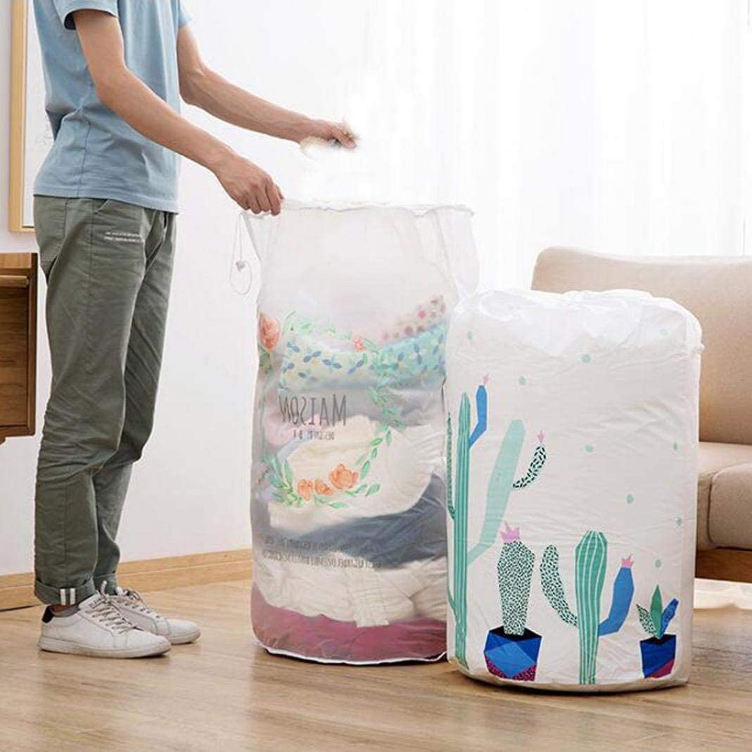 Bear* Difcuy Clothes Storage,Storage Holder,Moisture-Proof Large Foldable Drawstring Quilt Blanket Storage Bag Container