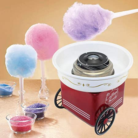 Mini algodón fabricante del caramelo de algodón de azúcar caseros eléctricos máquina del fabricante de bricolaje niños de caramelo que hace fuentes para las celebraciones del cumpleaños, 110V: Amazon.es