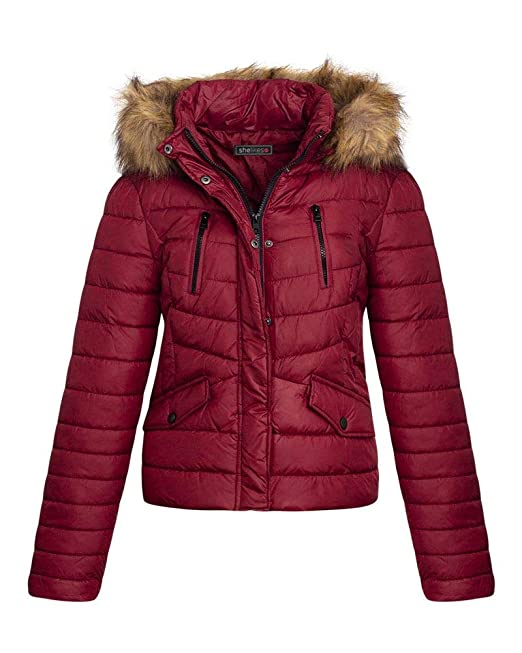 buying cheap thoughts on cheap for sale shelikes Womens Ladies Quilted Padded Faux Fur Detachable Hooded Warm  Winter Jacket Coat
