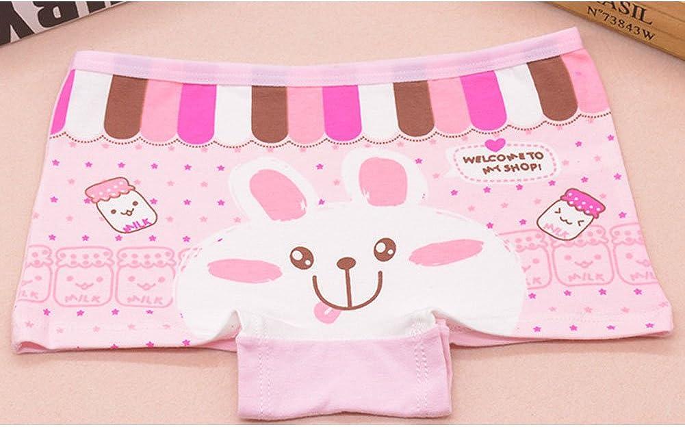 ARAUS Underwear Baby Girls Cartoon Cotton Boxer Briefs 4 Pack for 2-10T