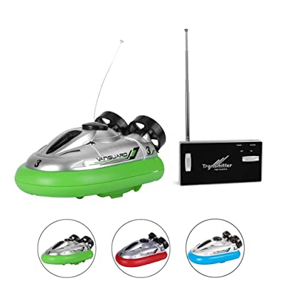 Rely2016 Mini Electric Radio Remote Control Hovercraft JG 777-220 Hover Boat Toy Gift for Kid, Random Color: Home & Kitchen