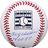 """Billy Williams Chicago Cubs Autographed Hall of Fame Baseball with HOF 87"""" Inscription - Fanatics Authentic Certified"""