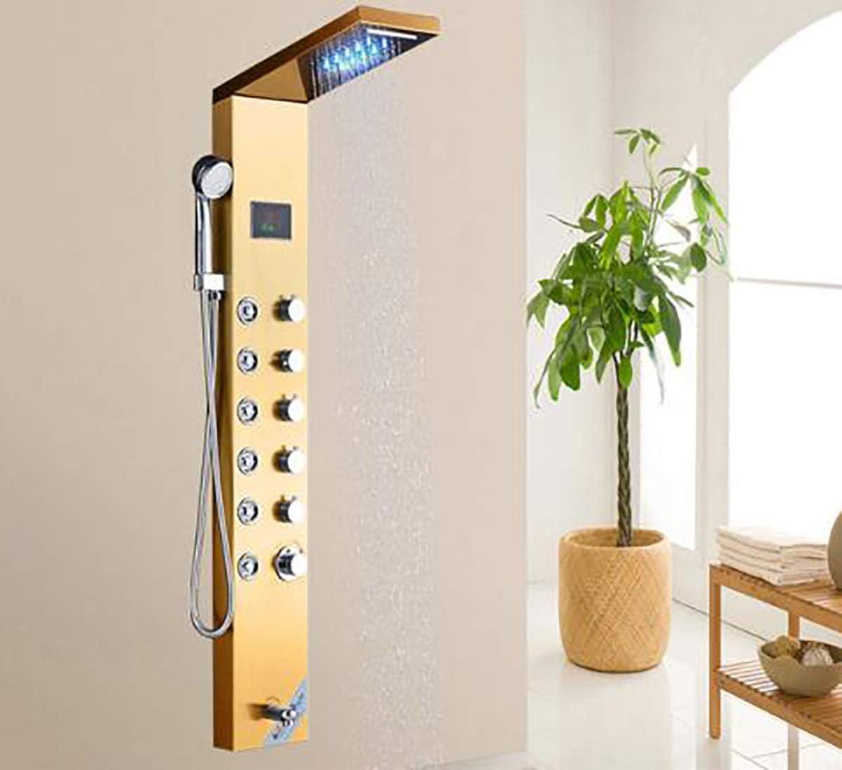 Shower system Columna de Ducha Grifo con luz Led Baño Baño Sistema ...