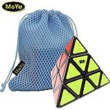 New MoYu Pyraminx Magic Cube Speed Puzzle Cube smooth turning Cube Toy Black + one MoYu Cube Bag new moyu pyraminx cubo magico velocità puzzle cubo liscio trasformando cubo nero + un giocattolo moyu cubo borsa