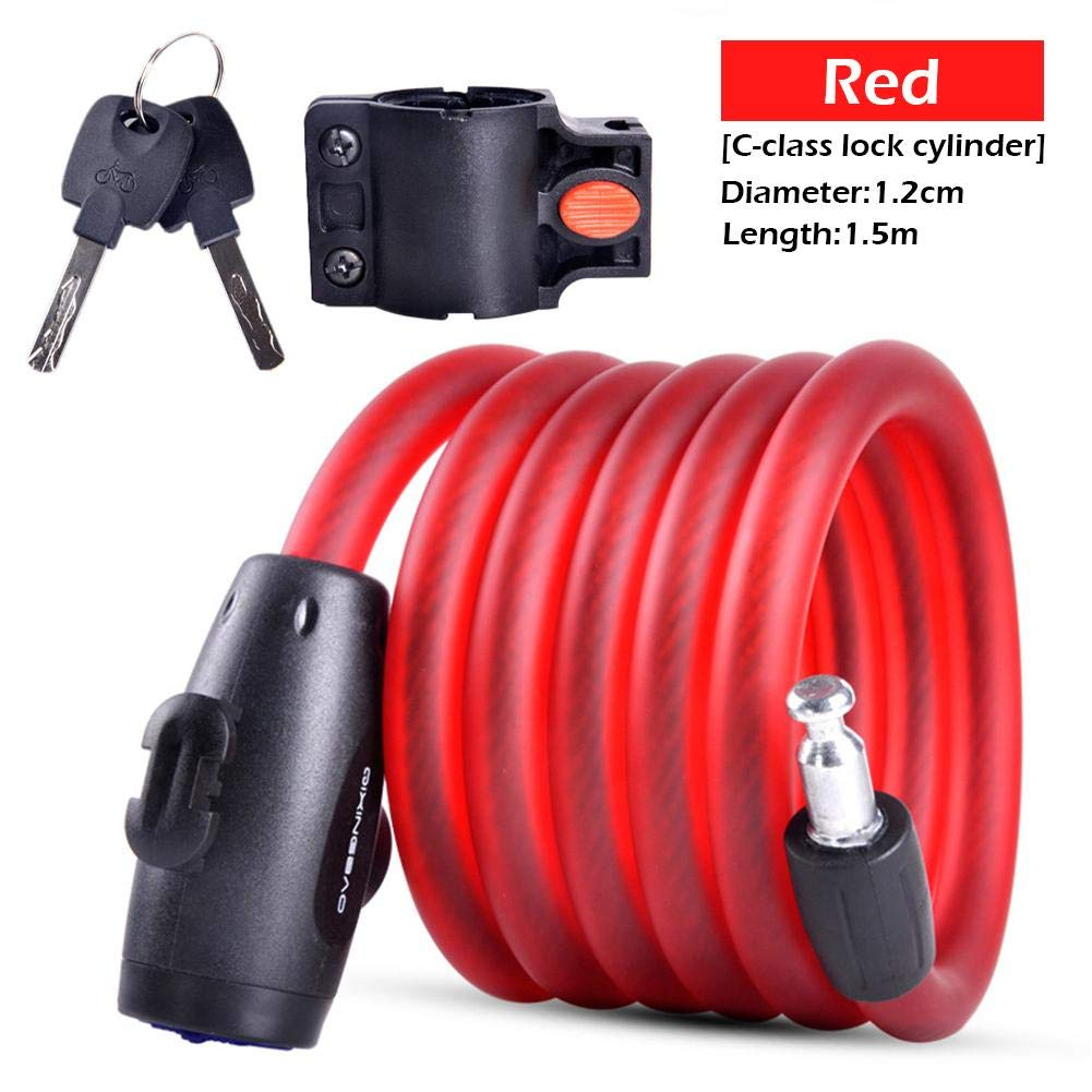 iShine 2019 Anti-Theft Lock Electric Car Portable Steel Cable Lock Bicycle Accessory