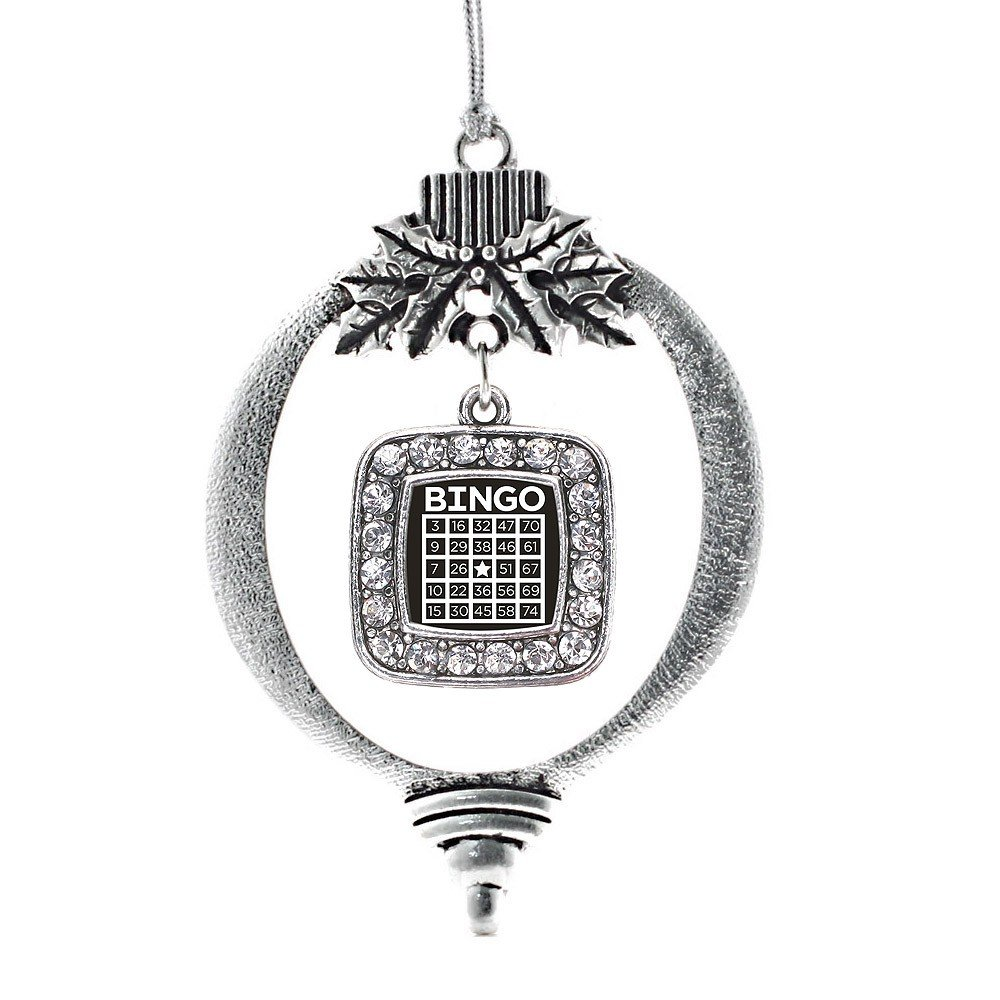 Inspired Silver Bingo Classic Holiday Christmas Tree Ornament With Crystal Rhinestones by Inspired Silver