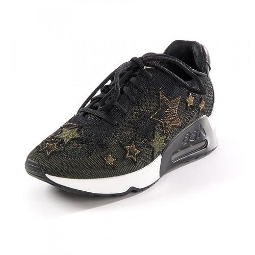 de9b1f4e09e Ash Zapatos Lucky Star Army Zapatillas Verde Mujer 41 Army Negro   Amazon.es  Zapatos y complementos