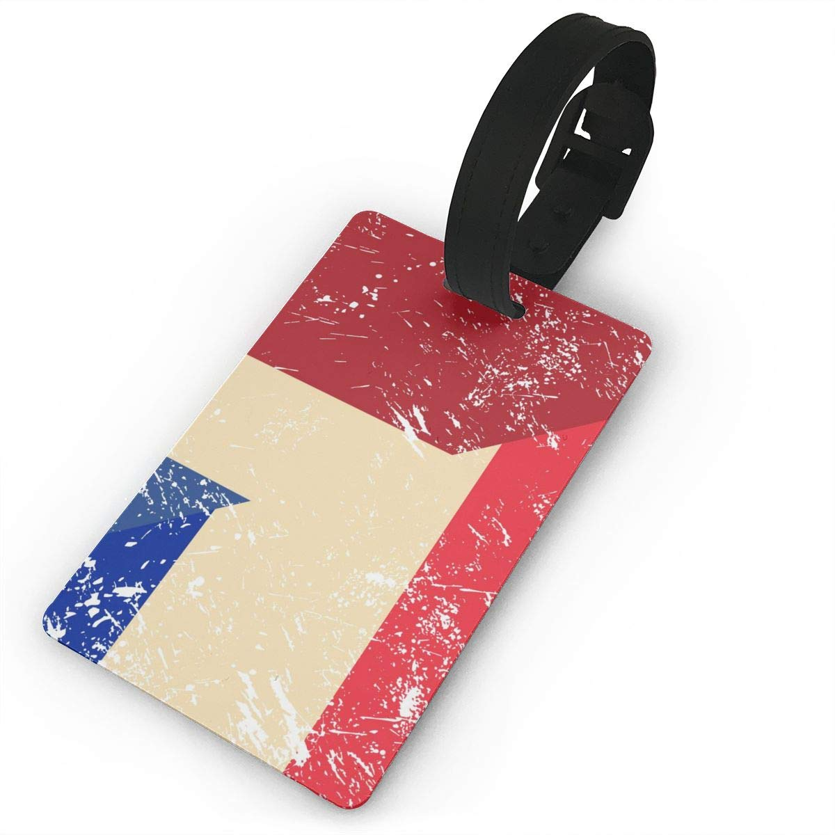 NB UUD France and Netherlands Retro Flag Travel Luggage Tag Fashionable Employees Card Luggage Tag Holders Travel ID Identification Labels for Baggage Suitcases Bags