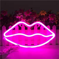 neon light up signs supreme lip shaped neon signs led light art decorative lights wall decor for children baby room amazon best sellers