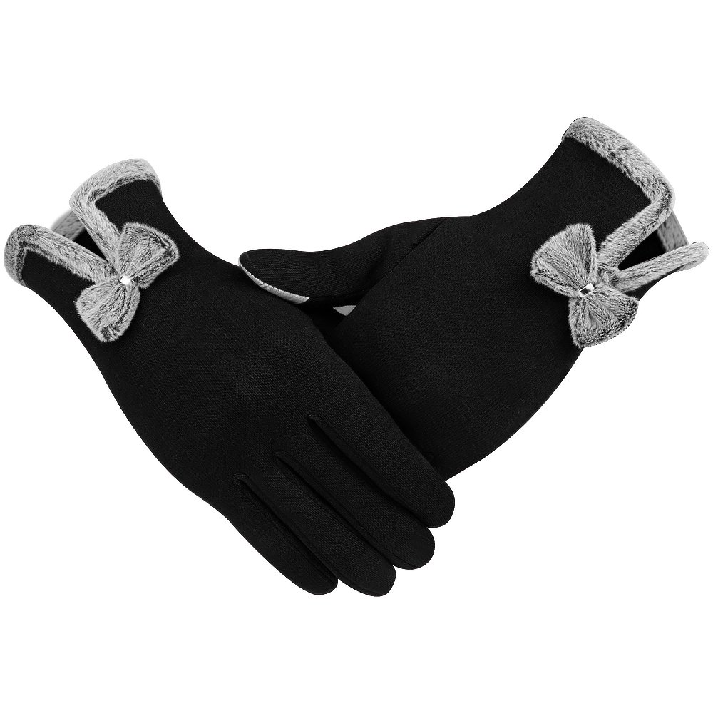 Winter Touch Screen Gloves,IEKA Thick Warmest Windproof Gloves,Fashion Touch Screen Fingers,Suitable for Smartphones and Touchscreen Devices - Black by IEKA (Image #4)