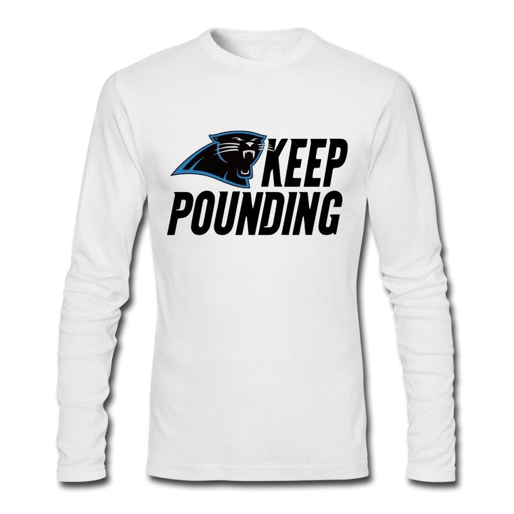 b47e2b08 Amazon.com: Panthers Football Keep Pounding T-shirts For Man XXL ...