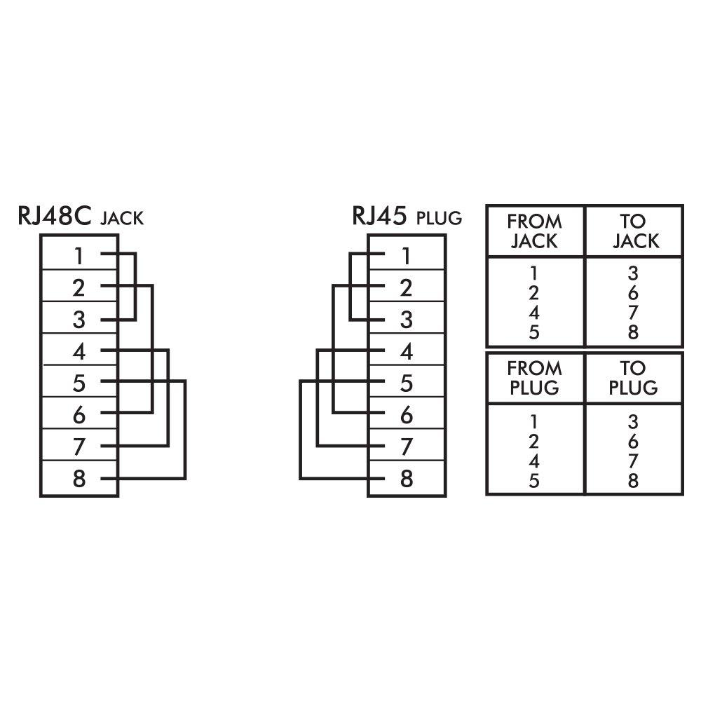 Shaxon Cat6 Gigabit Loopback Adapter Rj48c Jack Rj45 Rj 48c T1 Wiring Diagram Male Purple Matglfm P B Computers Accessories