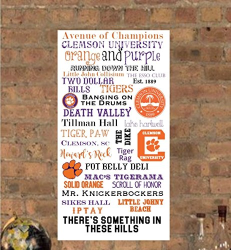 Clemson University / Clemson Tigers Subway Art Canvas Print- can customize by PicturePerfectbyJody