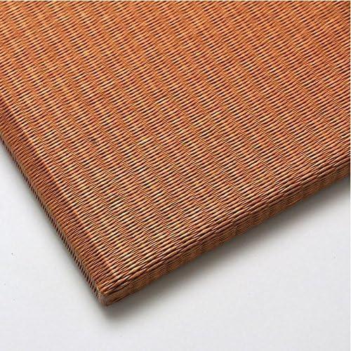 カラー置き畳 和紙表(清流 亜麻色)日本製 滑り止め付き 82cm×82cm×15mm