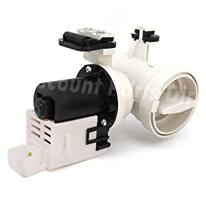 W10130913 Washer Drain Pump Motor Assembly Replacement for Whirlpool Kenmore Maytag Washer W10730972, 8540024, W10130913, W10117829, AP4308966, PS1960402