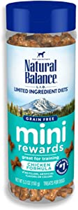 Natural Balance L.I.D. Limited Ingredient Diets Mini Rewards Dog Treats, Chicken Formula, 5.3 Ounce Canister