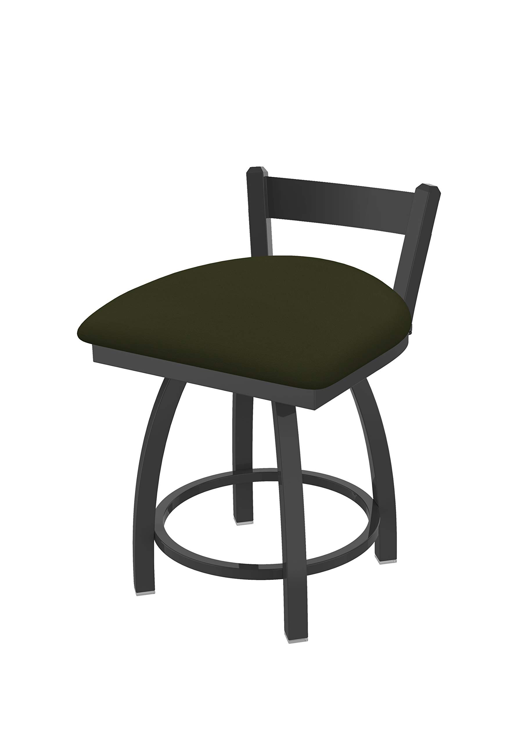 Holland Bar Stool Co. 82118PW010 821 Catalina 18'' Low Back Swivel Vanity Pewter Finish and Canter Pine Seat Bar Stool