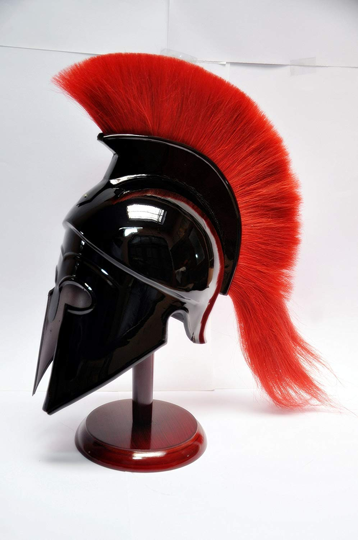 Sara Nautical Greek Corinthian Helmet with Red Plume,SCA Armor Roman Armour Spartan LARP by Sara Nautical (Image #2)