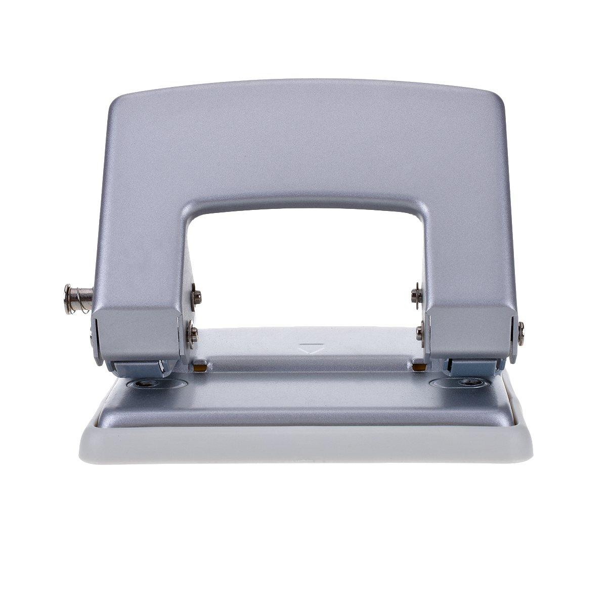 tankerstreet Perforatrice rotondo scrapbooking 3fori metallo 8fogli con vassoio [facile da pulire], argento, 2 Trous
