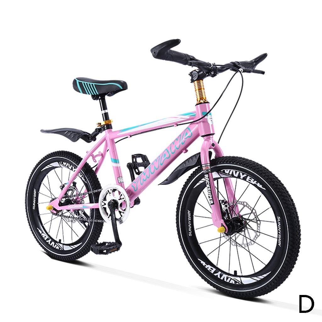 キッズ自転車 学生 自転車 シングルスピード マウンテンバイク 男の子 自転車 女の子 自転車 18インチ 20インチ 高炭素鋼フレーム 18inches 18inches D B07KJMHCWF