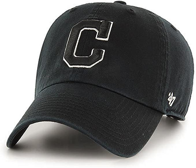 quality design 9b02d 1e4f6 Brand Cleveland Indians MLB Clean Up Dad Hat Cap Black/White