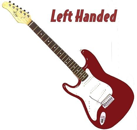 Kay ke330trlh zurdos tamaño completo 3 Pickup Guitarra eléctrica con trémolo, palisandro fingerboard- rojo