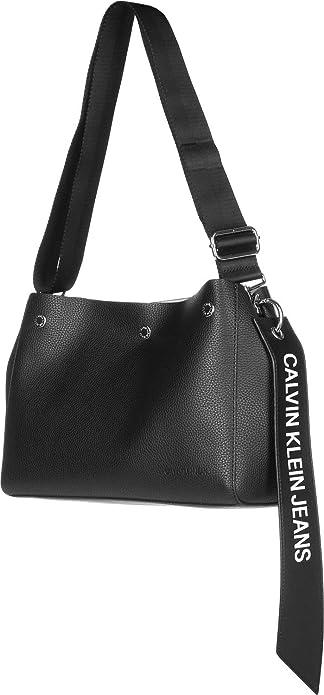 Calvin Klein Jeans - Logo Banner Shoulder Bag, cartera Unisex adulto, Negro (Black