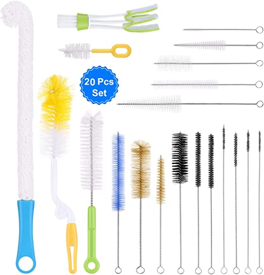 Bottle Tube Cleaning Baby Bottles Clean Tools Brush Sticks 10 Pcs Pack Stainless