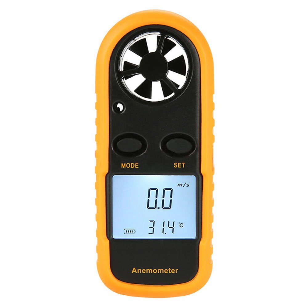 START Anemometer Digital LCD Display Thermometer Air Wind Speed Meter with Backlight for Sailing Kite Surf Marine Fishing