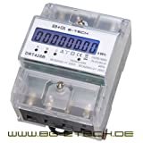 B+G E-Tech DRT428B Digital Electricity Meter Three Phase Meter for DIN Profile Rail, Energy Measurement Equipment 400 V 20(80)A with S0 Interface