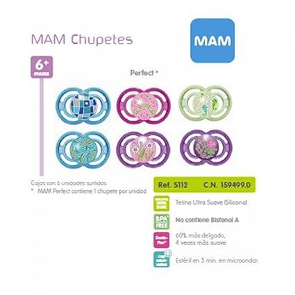 MAM Chupete Perfect Silicona 6-16 Meses: Amazon.es: Salud y cuidado ...