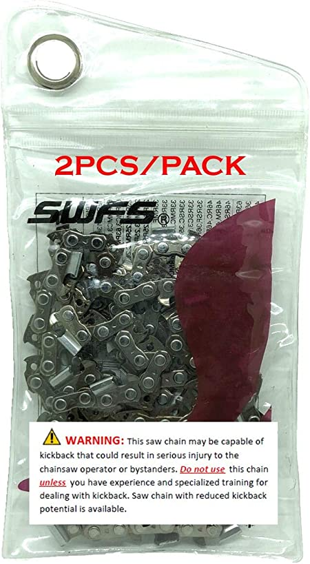 """2PCS 20 Inch 3//8/"""" Pitch 0.050/'/' Gauge Full Chisel Chainsaw Chain 72 Links"""