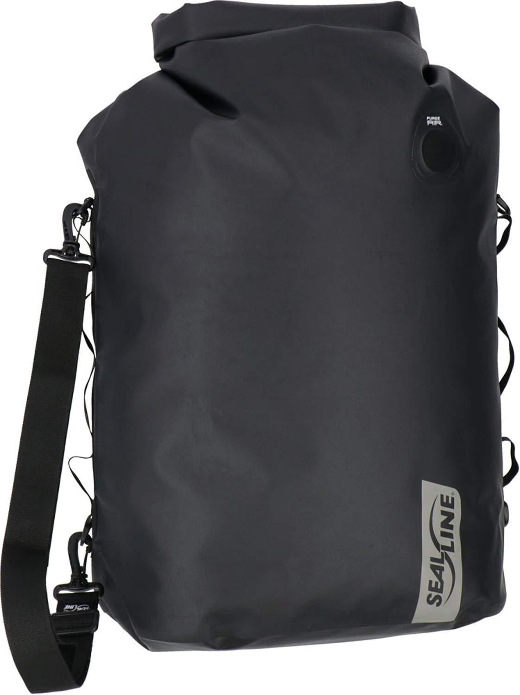 SealLine Discovery Deck Waterproof Dry Bag with PurgeAir, Black, 50-Liter