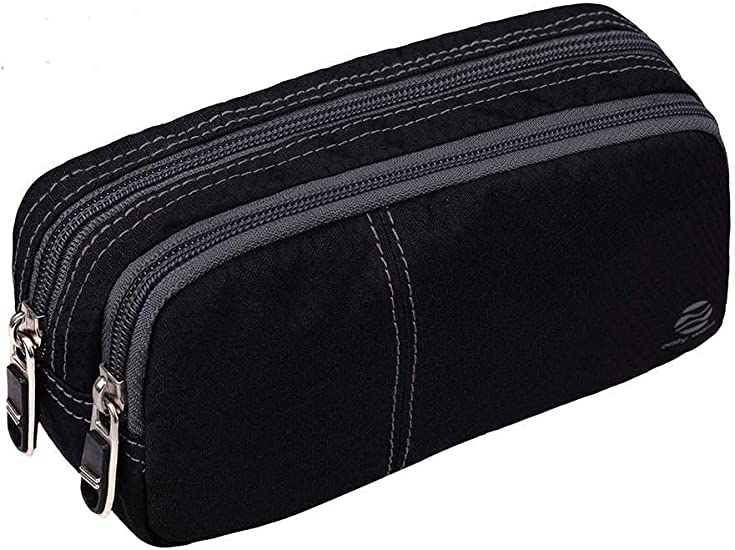 2 Pack Gray Trusty Pencil Pouch