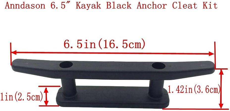 2 Count Kayak Kanu Festmacher Deck Mount Anchor Cleat Nylon Seil Rack mit