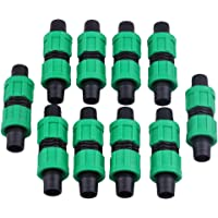 10 pcs droits Joint 16 mm Drip Garden irrigation Fitting Bande Couplage Coupler